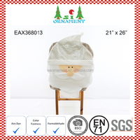 Silver christmas santa claus chair cover