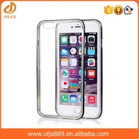 2016 shockproof protective hard crystal clear case for iphone 6 hybird case