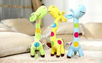 Dongguan custom plush toy giraffe with long neck