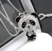 Fashion Emoji Panda Necklace for Women