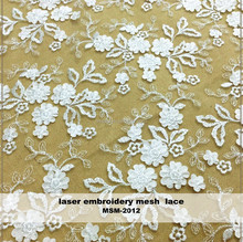 new fahshion applique embroidery mesh wedding dress lace fabric