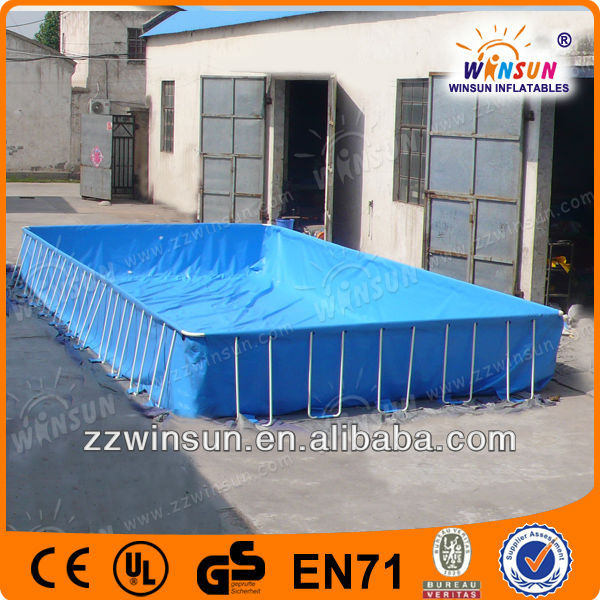 Most Durable 0.9mm PVC tarpaulin rectangular above ground swimming pool