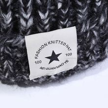 Leather Patch logo winter knit beanie hat adult 100% acrylic Fabric knit minion beanie hats