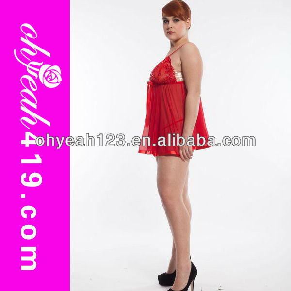 Wholesale multicolor mature women plus size sexy nighty