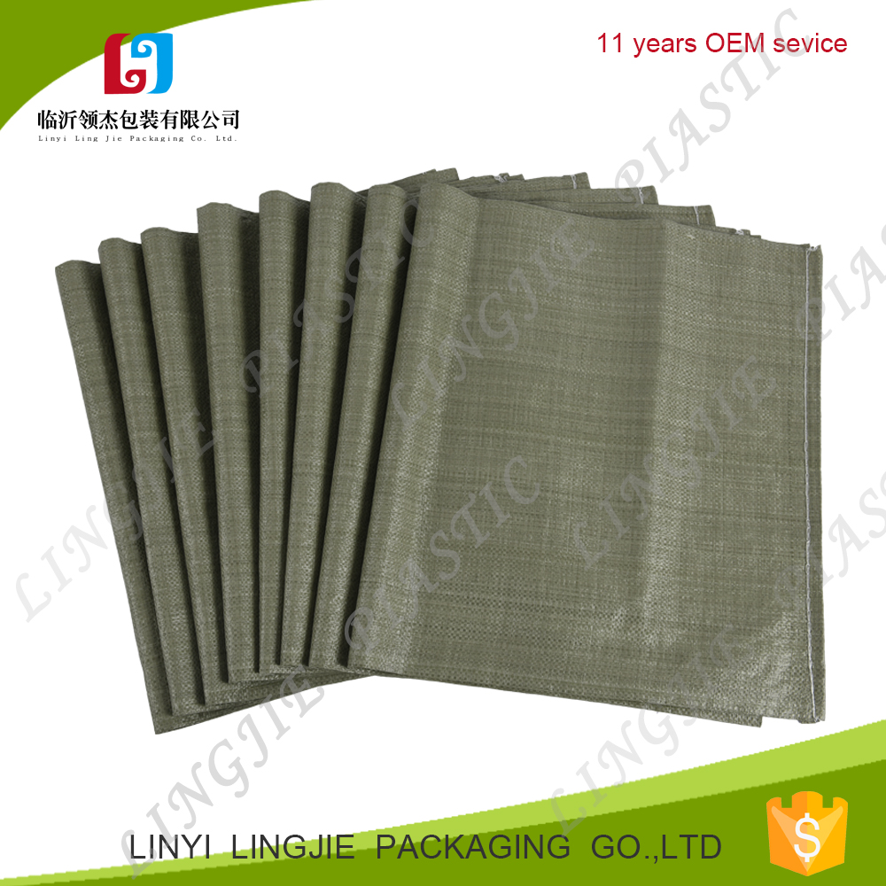 China supplier 100% polypropylene customized plastic packing bag 40x62 cm gray pp woven sack for cement