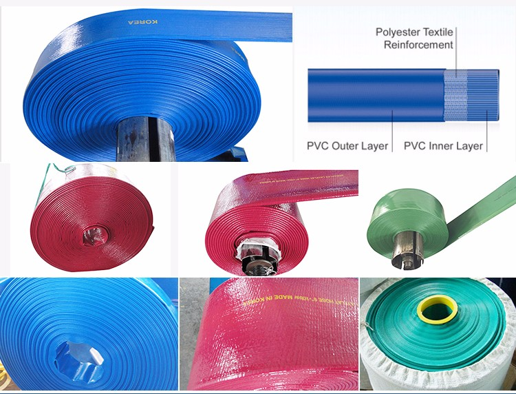 Flexible discharge water layflat hose heavy duty blue 1 10 - Tuyau pvc souple ...