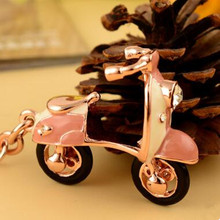Alibaba China Promotional Rose Gold Custom 3D Motorcycle Keychain For Gifts