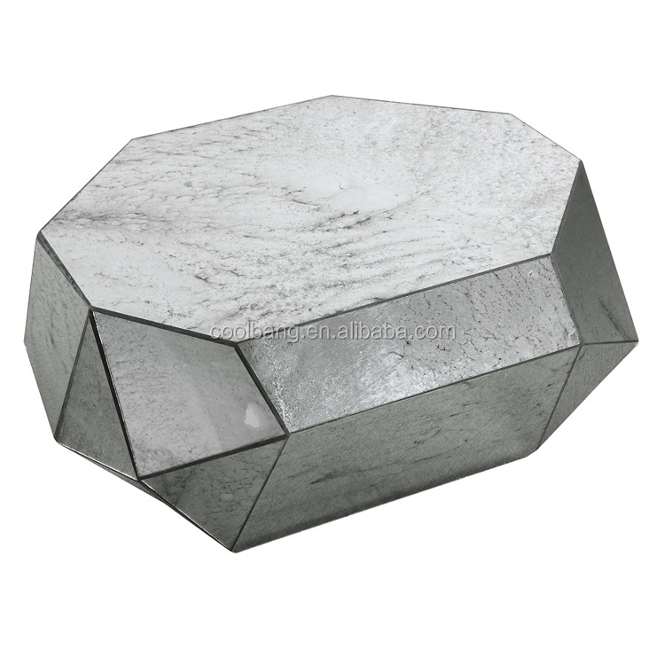 Made in China fancy glass stone travertine coffee table for cheap