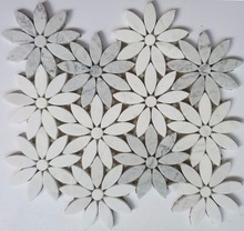 Natural Stone Mosaic Marble Waterjet Medallion Inlay Mosaic Pattern