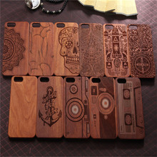 Full pattern wooden case for iPhone 6s for iphone 7 case marble wood pattern