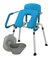 Hip lift(easy up) shower commode chair with bath function