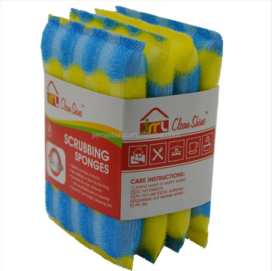 JML Wholesale Household Cleaning New Arrival Sponge Kitchen Sponge Scourer for pot washing