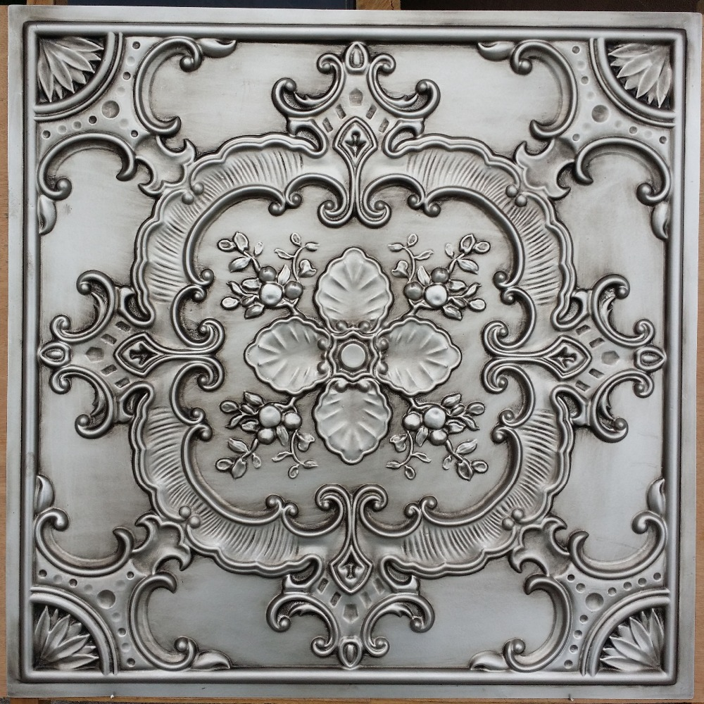 Plastic faux tin ceiling tiles