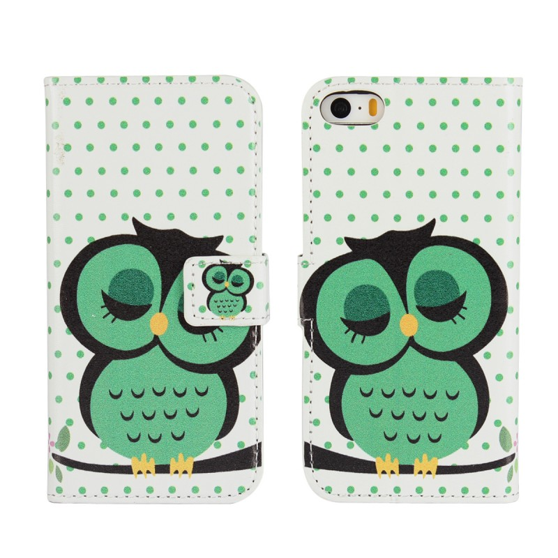 Flip Wallet Cases For Apple iPhone SE 5 5S Phone Case Leather Mobile Bag Sale Price Cute Owl Card Slot Stand