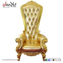 Popular Bride And Groom Marriage Gold Royal King Throne Chair For Queen