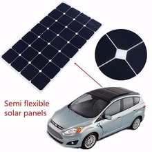 Marine Transparent Thin Film 90w PV Flexible Solar Panel