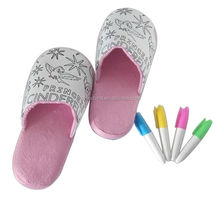 DIY Painting doodle kids slipper
