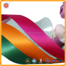 Dongguan supplier double sided Polyester Cut-trim Satin Ribbon wholesale
