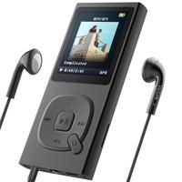 MP3 Player with Bluetooth 4.2 16GB Portable Lossless Sound Metal Music Player with FM Radio Voice Recorder Touch