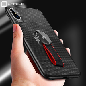 CAFELE custom TPU 360 degree full phone case for iphone X ring holder for iphoneX back cover