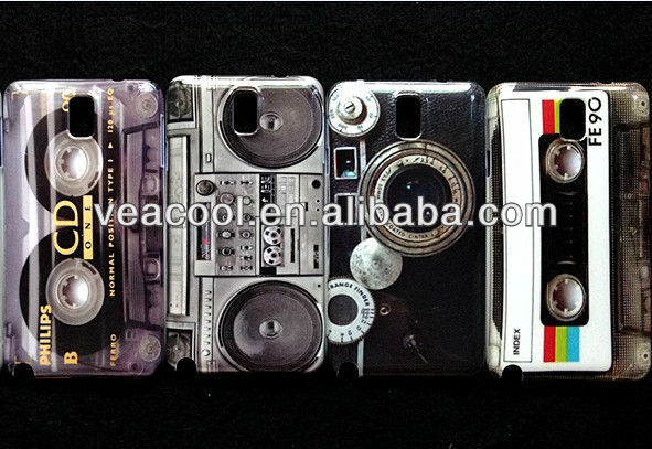 Retro Cassette Tape Hard Back Phone Case Cover For Samsung Galaxy Note 3 III N9000