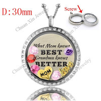 Hot selling in America 316L stainless steel memory glass locket from locket manufacturer