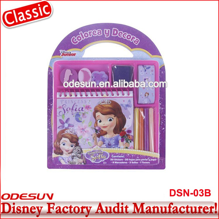Disney Universal NBCU FAMA BSCI GSV Carrefour Factory Audit Manufacturer Kids Stationery Item For Gift