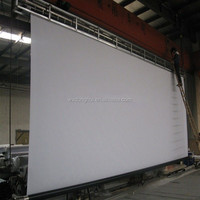 "Large 300"" (16:9) motorized projection screen"