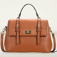GL538 Europ style famous brand genuine leather laptop messenger bag