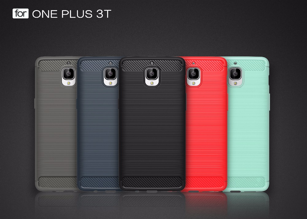 2017 Newest Carbon fiber Mobile cell phone cover shockproof armor case for OnePlus One Plus 3T