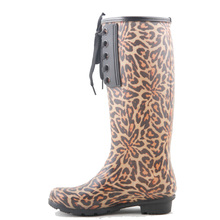 camo lace up sexy lady durable waterproof fashion women rain boots for 2016