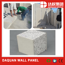 Prefab wall material !!! 7 days finish !! Low cost prefabricated house !- Daquan lightweight eps cement sandwich wall panel