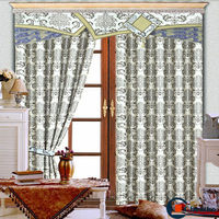 China luxury european style window curtains crochet lace curtains pattern