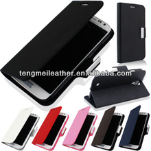 Magnetic luxury PU leather flip case cover for samsung galaxy S4 IV I9500,Front cover for samsung galaxy s3