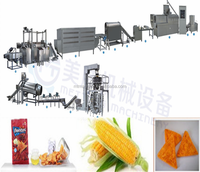 extruded corn snacks/corn chips machine