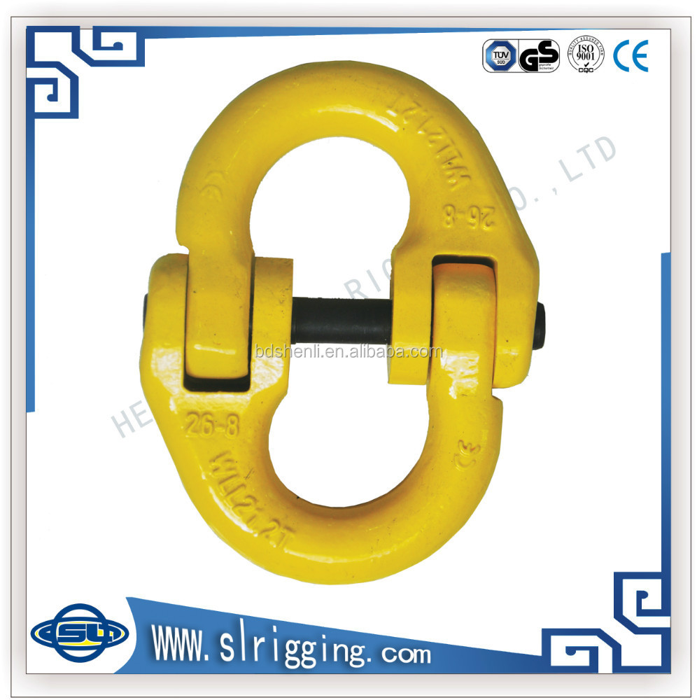 Lifting rigging red color European type anchor chain forged alloy connecing link