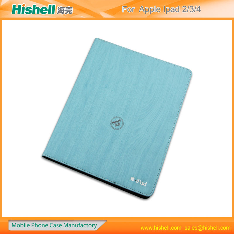 new arrival wood wallet case for ipad2/3/4