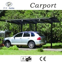 Good Warranty aluminum carport with arched roof