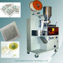 Bamboo tea bag box, empty tea bags packing machine for sale