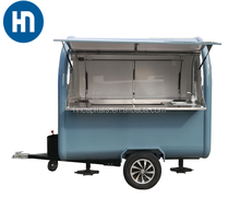 electric mobile bbq china made fast food vending trailer with wheels with frozen yogurt