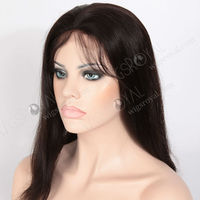 silk top hidden knots invisible part wig remy human hair