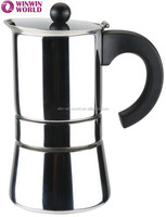 High Quality Wholesale Personalized 4 Cups Italy Moka Coffee Pot