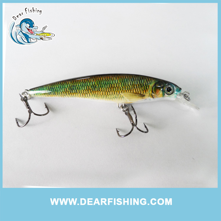 Different type of floating fishing lures hard body deep diving minnow lures