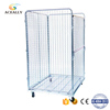 Stainless steel trolley steel rollers warehouse rolling cage