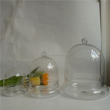 clear bell jars wholesale glass dome with base / glass dome cloches with glass base as plant terrarium