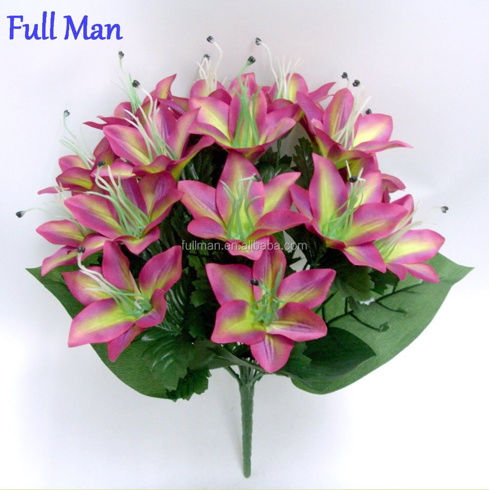 Artificial lily flower bouquet artificial lily flower bouquet artificial lily flower bouquet artificial lily flower bouquet suppliers and manufacturers at alibaba izmirmasajfo Image collections