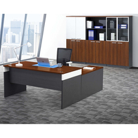 new design simple office table with side cabinet