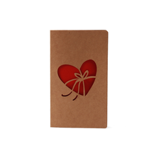 Wholesale Custom High Quality Laser Cut Kraft Paper Valentine Love Greeting Card