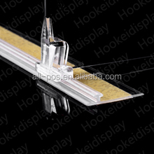supermarket display plastic shelf rails for divider and pusher