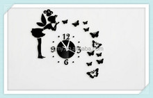 Diy Mirror Stickers Home Decor Vinilos Paredes Wall Clock